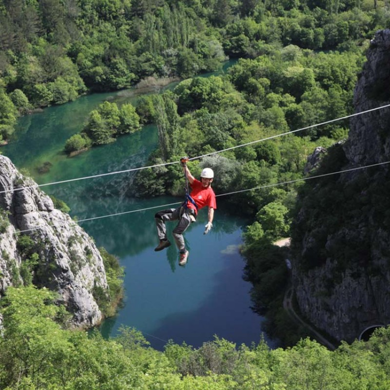 ZIP LINE IN OMIŠ